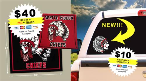 Chief blankets and decals
