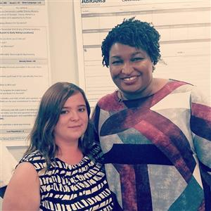 Amanda Lammon with Stacey Abrams