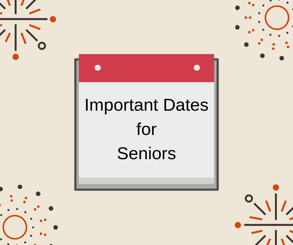 Seniors - Please Check These Dates