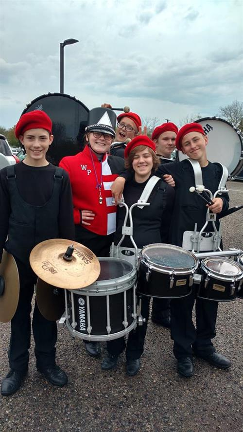 Band students ready to begin the Volksparade in Holland