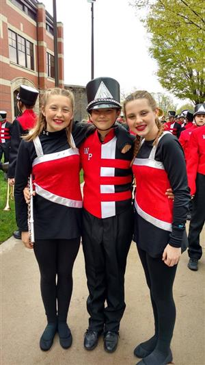 Band members at the Holland parade