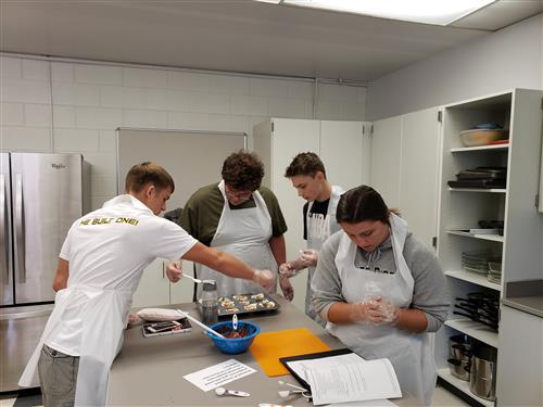 Nutrition Class Busy in the Kitchen!