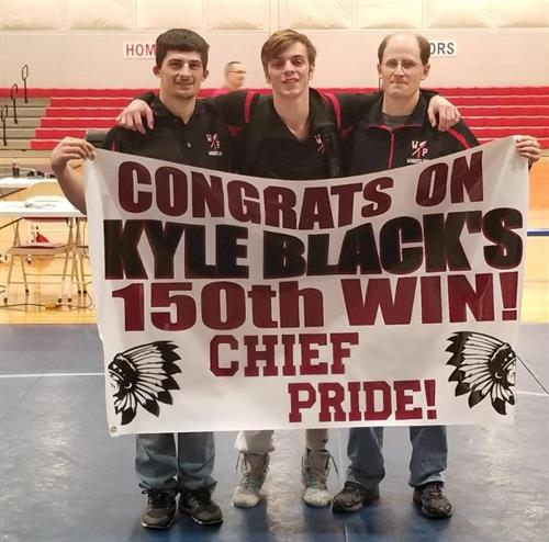Senior Wrestler Wins 150th Match!