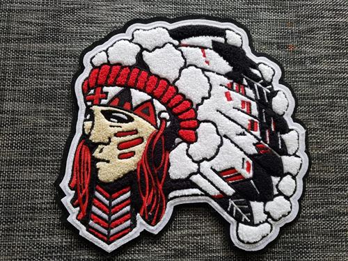 Chief Head Patches for Letterman Jackets