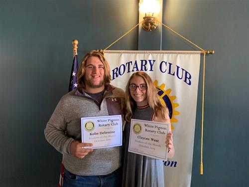 White Pigeon Rotary Club Honors Students of the Month