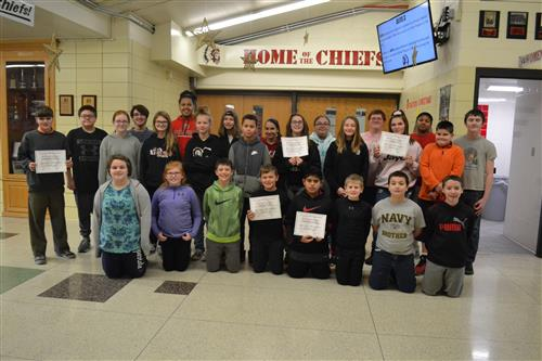 November Middle School Students of the Month!